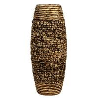 Elegant Expressions by Hosley Natural Water Hyacinth Vase, Brown