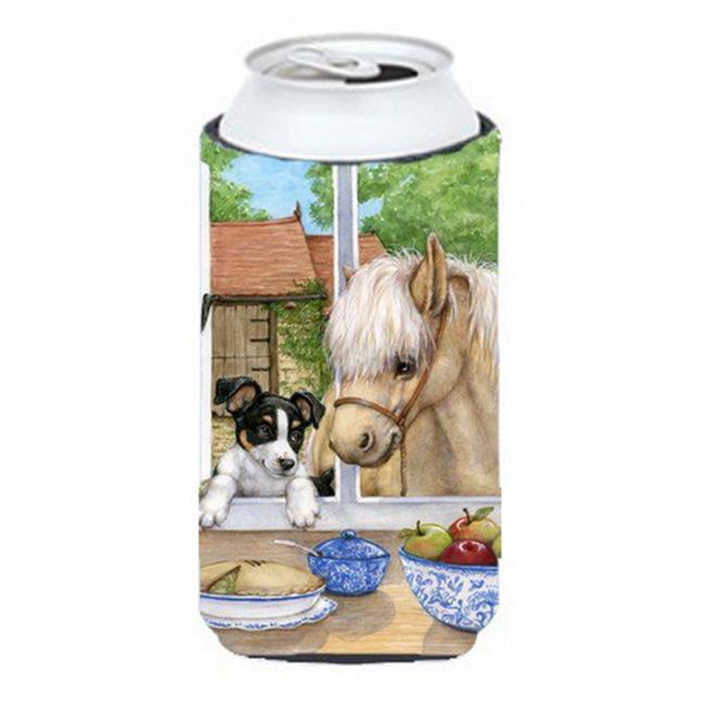 Jack Russel Puppy & Foal Horse Tall Boy Can cooler Hugger - image 1 of 1