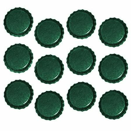 New Green Crown Bottle Caps Craft Scrapbook Jewelry (50) Scrapbooking Bottle Cap