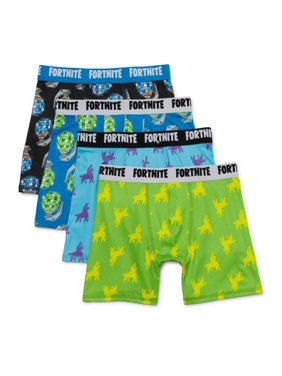 Fortnite Boys Underwear 4-Pack Boxer Briefs, Sizes 8-12