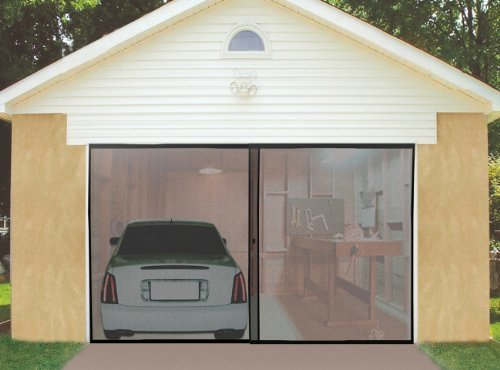 Instant Garage Screen Door Secure & Keeps Out Insects and Pests Double by