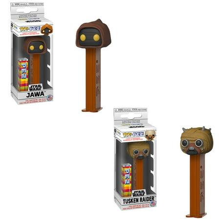 Funko POP! PEZ Dispensers - Star Wars S2 - SET OF 2 (Tusken Raider & Jawa) ()