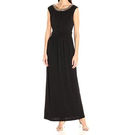 Embellished Dresses Clearance (Womens Embellished Neck Maxi Dress)