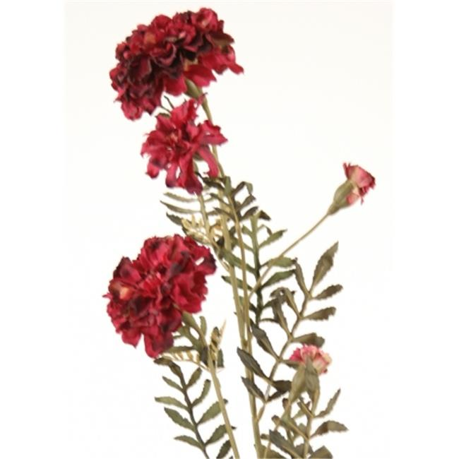 Distinctive Designs DH-467-BG DIY Flower 27 in. L Burgundy Artificial Marigold Spray x 3 Blooms - Pack of 6
