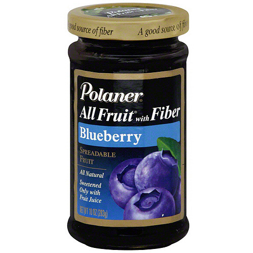 Polaner All Fruit Blueberry Spreadable Fruit With Fiber, 10 oz (Pack of 12)