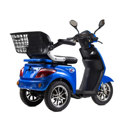 T4B LU-500W Mobility Electric Recreational Outdoors Scooter 48V20AH with Three Speeds, 14/22/32kmph - Blue - image 12 de 14