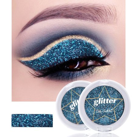 Marainbow 12 Colors Glitter Eyeshadow Palette Cosmetic Silver Gold Warm Shimmer Eyeshadow Single Color Makeup (Best Warm Eyeshadow Palette)