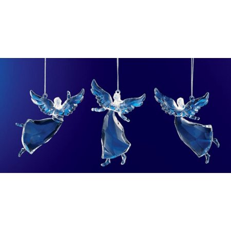Religious Crystal - Club Pack of 36 Icy Crystal Religious Christmas Dancing Angel Ornaments 3.5