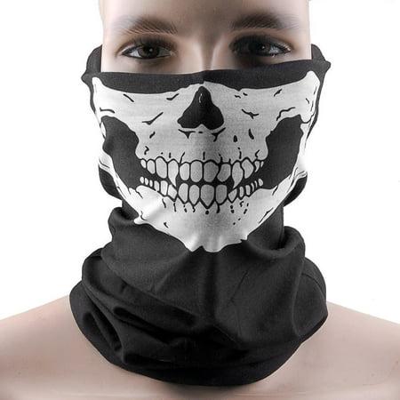 2PCS Bike Motorcycle Face Mask Skull Bandana Ski Mask Neck Warmer for Motorcycles, Bicycle, Skiing, Running Face Mask,Mountain Climbing - image 6 de 6