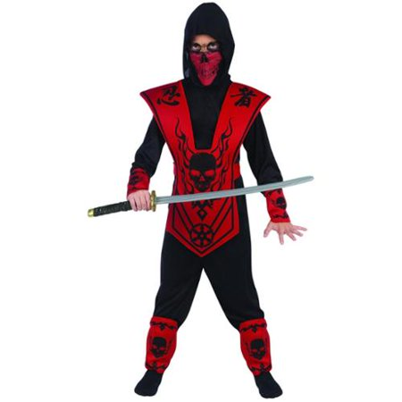 Red Skull Lord Ninja Costume Child - Half Skull Costume