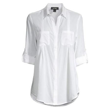 Collared Roll-Tab Shirt