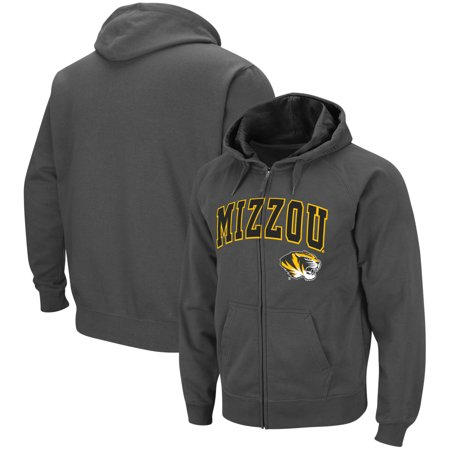 Missouri Tigers Colosseum Arch & Logo Tackle Twill Full-Zip Hoodie - Charcoal