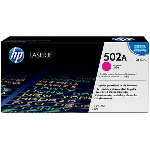 HP 502A (Q6473A) Magenta Original Laser Jet Toner Cartridge