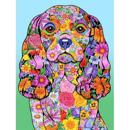Cavalier King Charles - Best of Breed Flowers Design Garden Flag