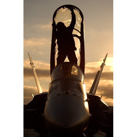 Canvas Print Aircraft Clouds Sailor Sun Sky Plane Fighter Jet Stretched Canvas 10 x