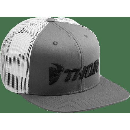 Thor Trucker Snapback Hat Gray White   2501-2765