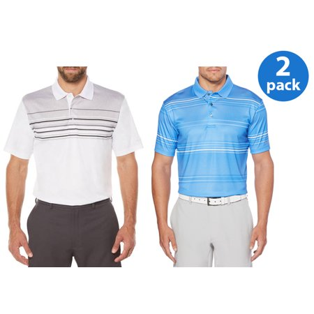 Mini Striped Polo Shirt - Men's Performance Striped Polo Shirt