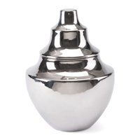 Modern Contemporary Decorative Vase Bottle Jar Decor, Silver, Ceramic