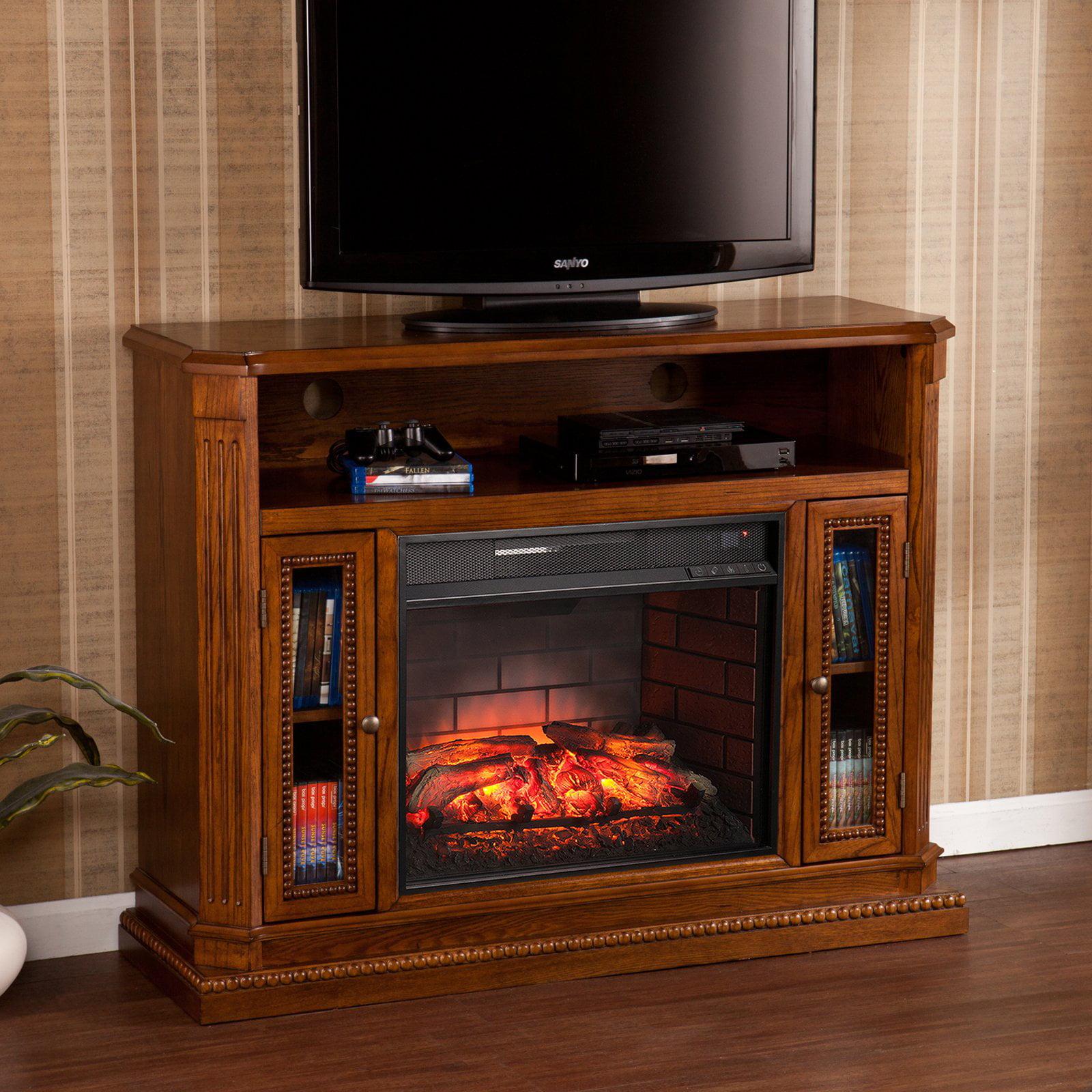 Southern Enterprises Atkinson Infrared Electric Media Fireplace