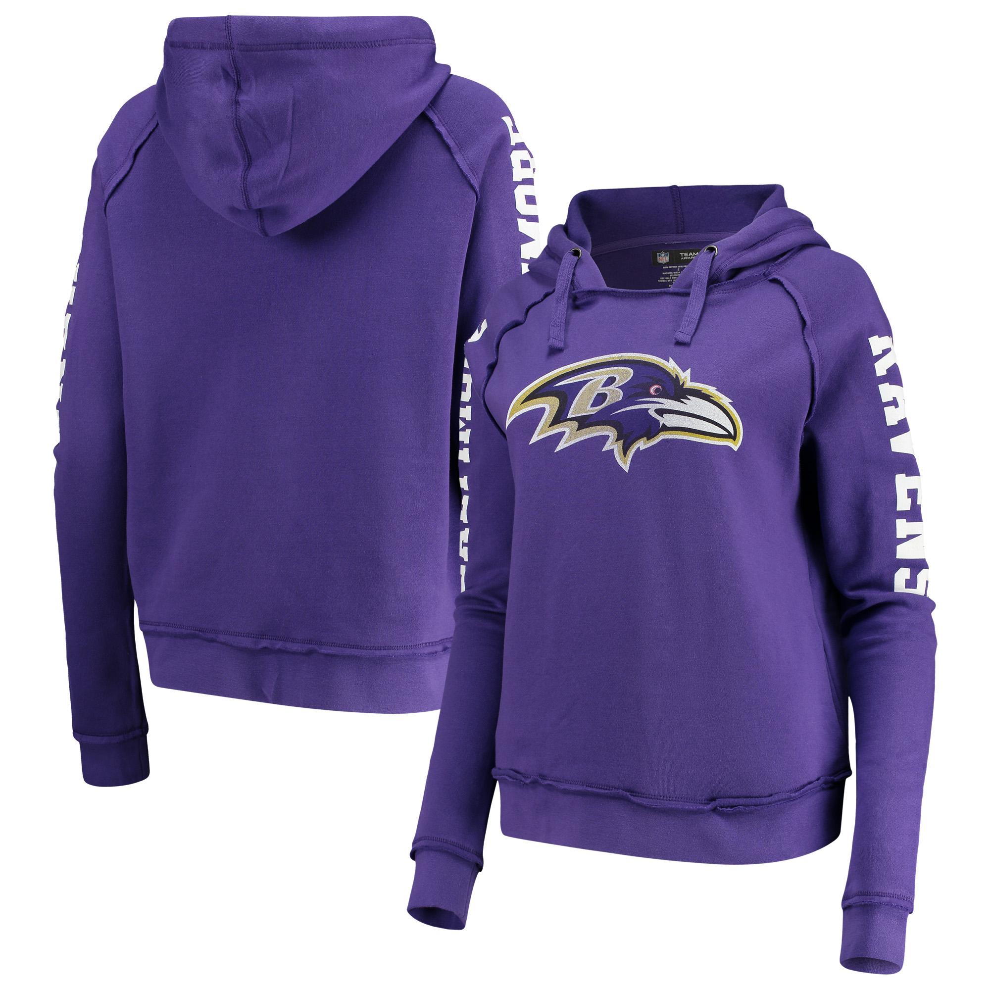Baltimore Ravens New Era Women's Fleece Pullover Hoodie - Purple