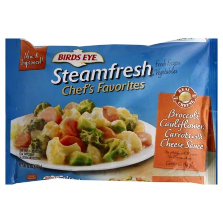 Pinnacle Foods Birds Eye Steamfresh Chef's Favorites Broccoli, Cauliflower, Carrots with Cheese Sauce, 12
