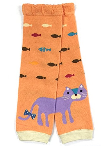ALLYDREW Funky Prints & Patterns Baby Leg Warmer & Toddler Leg Warmer for Boys & Girls, Cats & Fish