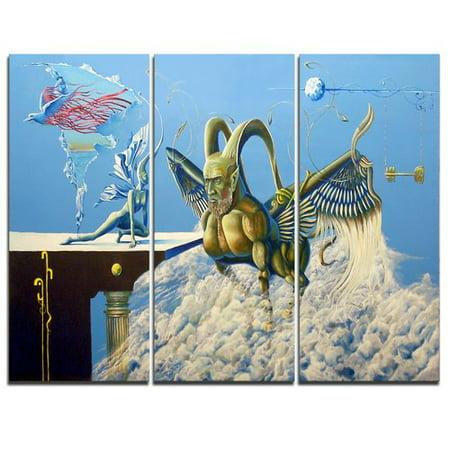 Design Art Cherubim   3 Piece Graphic Art On Wrapped Canvas Set