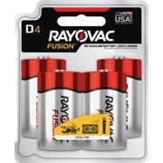 Rayovac Alkaline Batteries D Fusion 48/CT Red/Silver 8134TFUSKCT