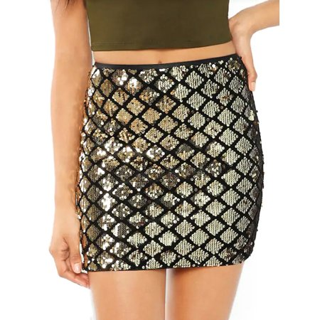 Women Sequin Bandage Skirt High Waist Pencil Bodycon Party Short Mini