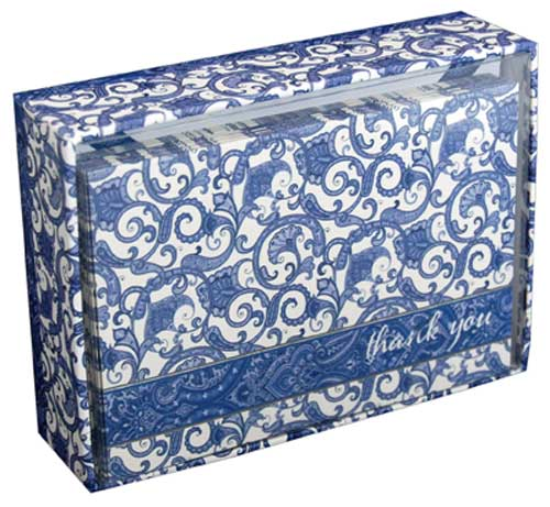 Pictura Blue Delft Box of 14 Thank You Note Cards
