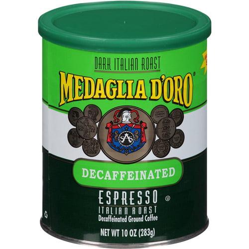 Medaglia d'Oro Espresso Italian Roast Decaffeinated Ground Coffee, 10 oz, (Pack of 12)