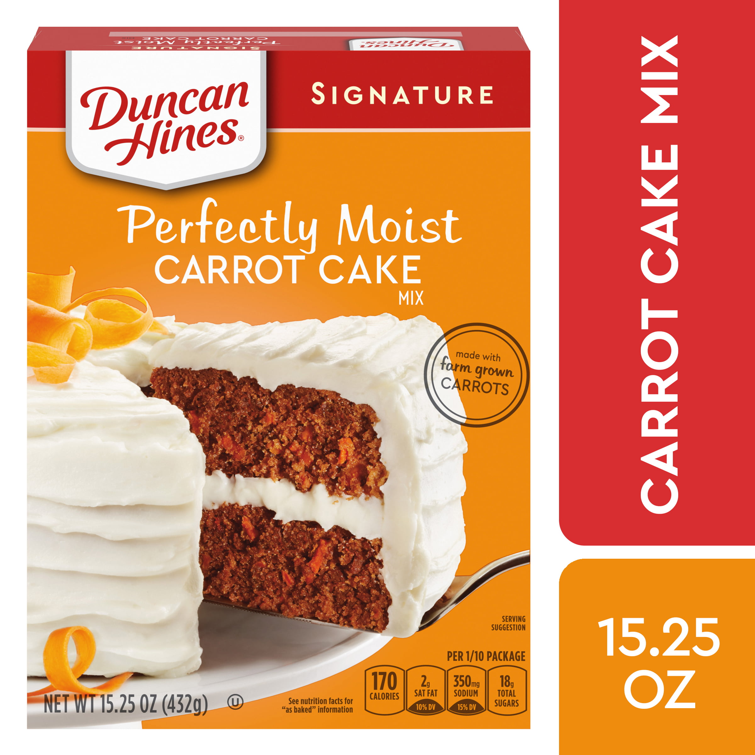 Duncan Hines Signature Perfectly Moist Carrot Cake Mix, 15.25 OZ