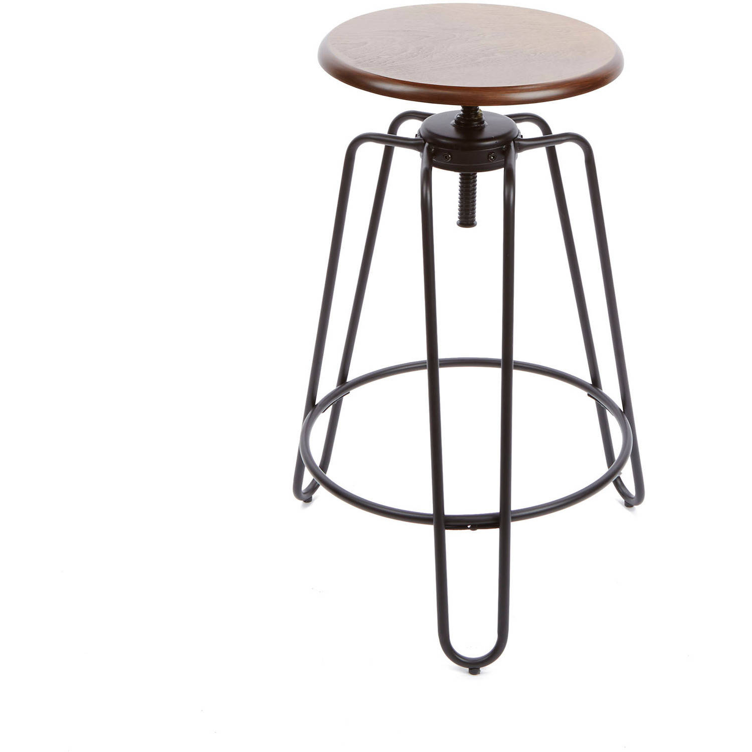 Better Homes U0026 Gardens Adjustable Height Spin Stool   Walmart.com