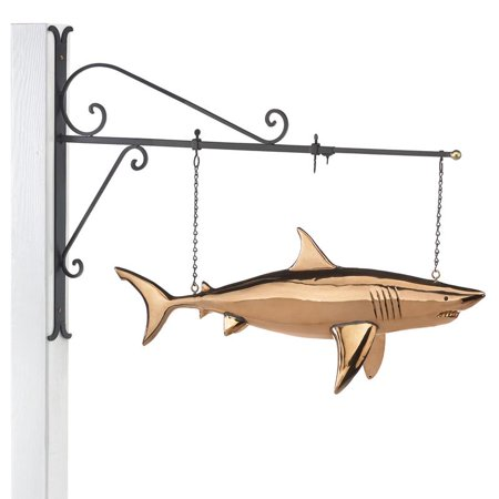 Patina Copper Wall Hanging (Shark Copper Hanging Wall Sculpture - Nautical Home Décor by Good)