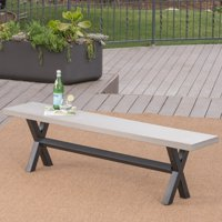 Christopher Knight Home Goleta Outdoor Concrete Dining Bench by
