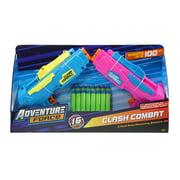Adventure Force Clash Combat Dart 4 Shot Dart Blasters, Pack of 2