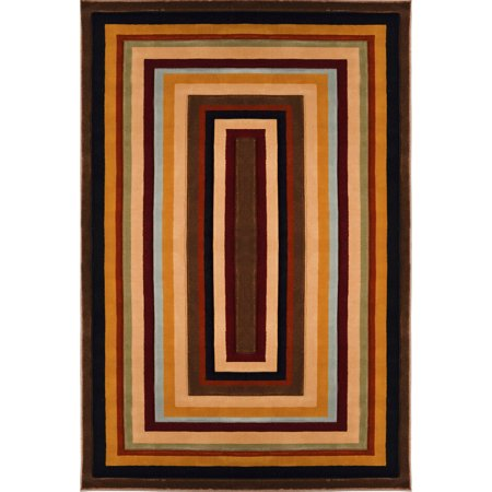 Home Dynamix Evolution Collection Area Rug  Brown Multi