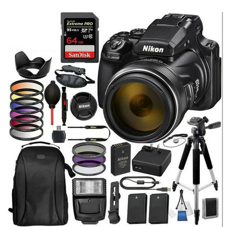 Nikon COOLPIX P1000 Digital Camera with Accessory Bundle