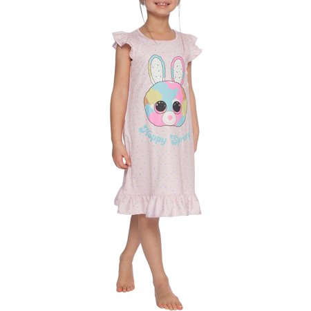 Girls' TY Beanie Boo Little Bubby Bunny Pajama Nightgown (Little Girl & Big Girl)](Christmas Nightgowns Kids)