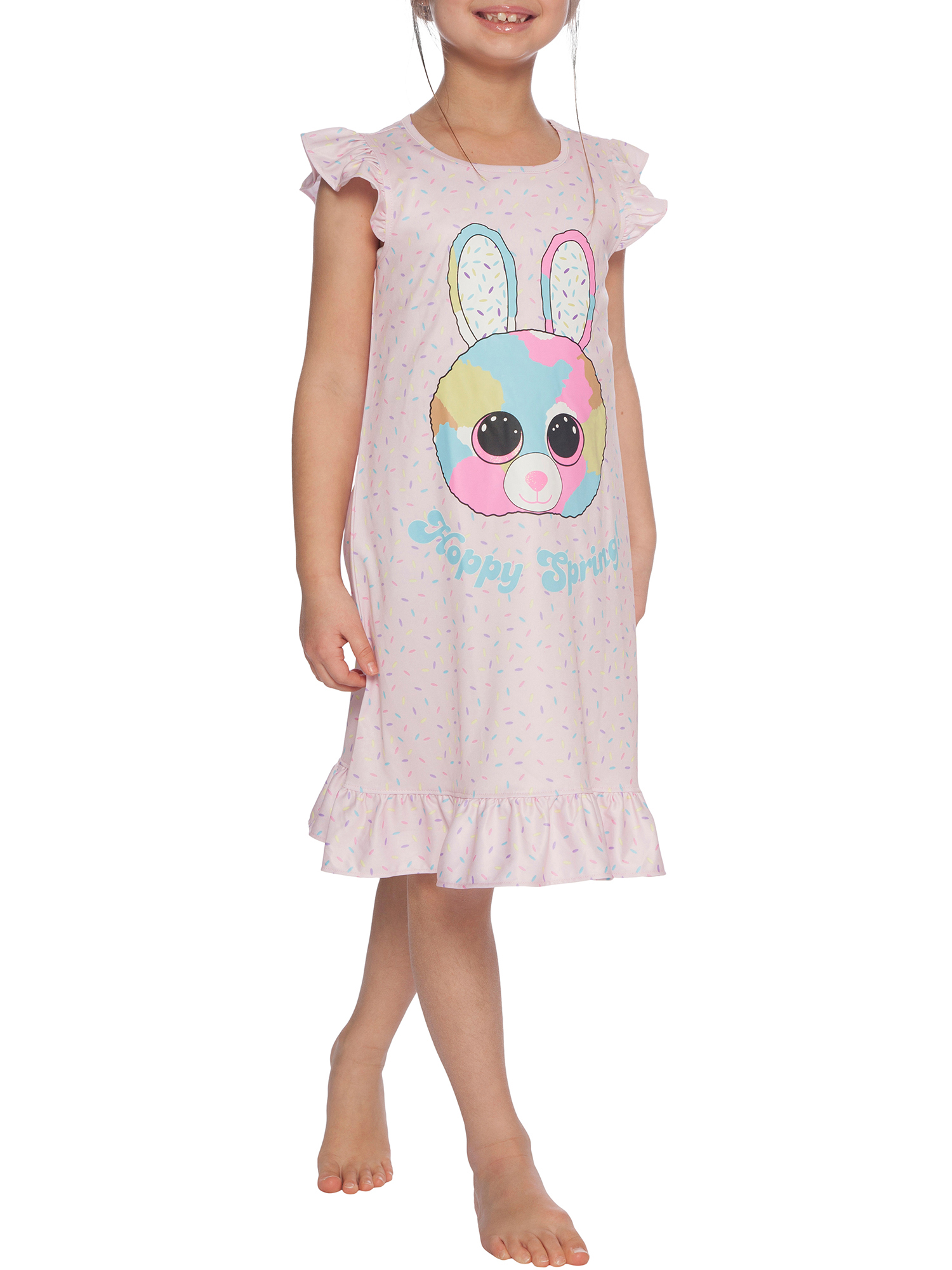 Girls' TY Beanie Boo Little Bubby Bunny Pajama Nightgown (Little Girl & Big Girl)