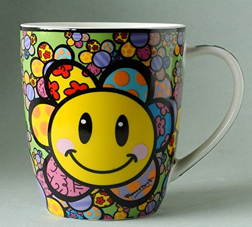 Bone China Mug, Sold Separately (A New Day), 13 oz By Romero Britto by