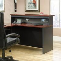 Sauder Via Office Reception Desk (Credenza and Hutch) in Classic Cherry