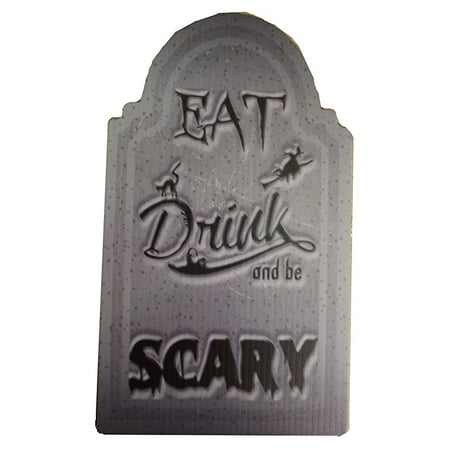 Aahs Engraving Halloween Small Tombstone Prop (Eat, Drink, and Be Scary)](Scary Halloween Home Decorations)