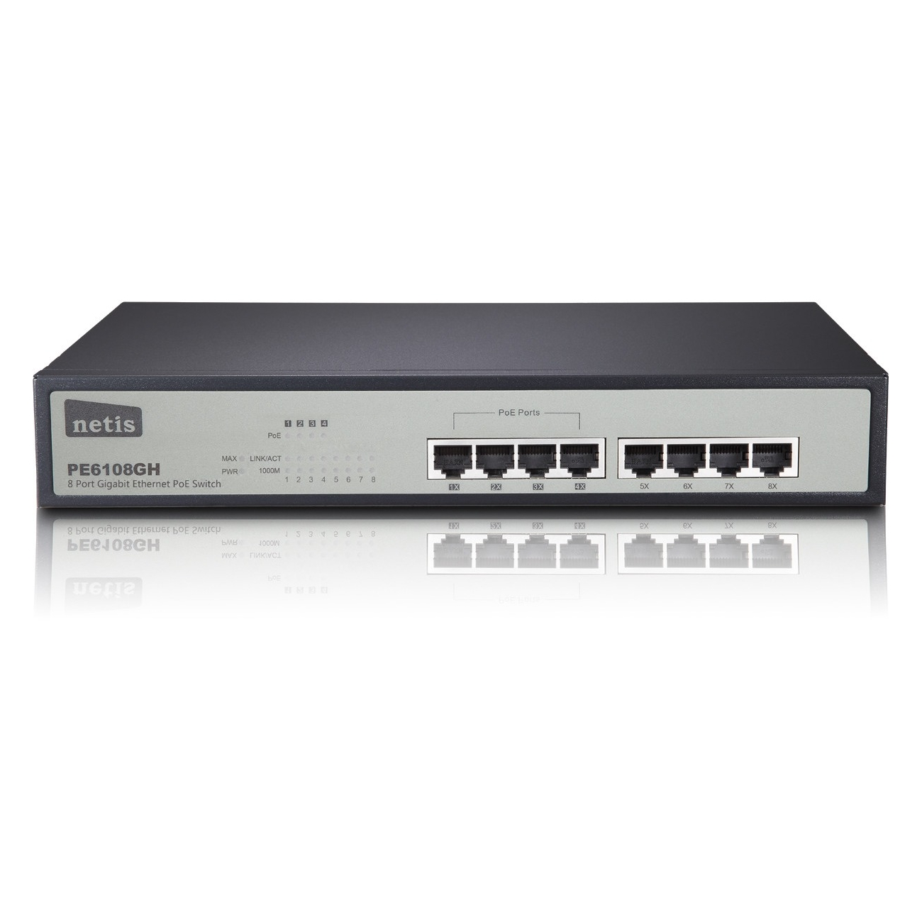 Netis 8 Port Gigabit Ethernet PoE Switch/4 Port PoE/802.3at/af ...