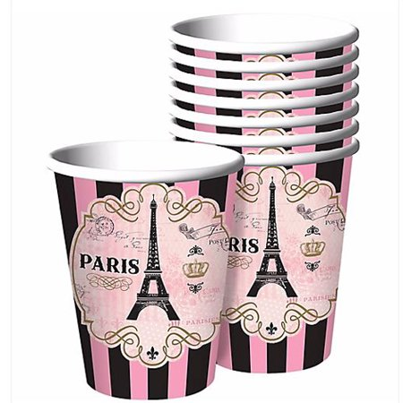 Bridal Shower Paper (Bridal Shower 'A Day in Paris' 9oz Paper Cups)