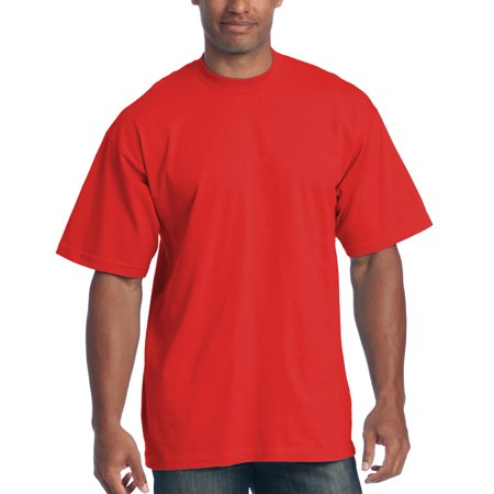 dafad0958 Pro Club - Pro Club Men's 6.5 oz Heavyweight Cotton Short Sleeve T-Shirt,  Red, Small - Walmart.com