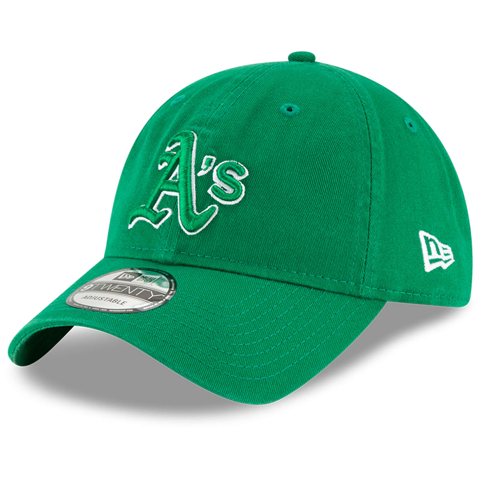 Oakland Athletics New Era St. Patrick's Day Core Classic 9TWENTY Adjustable Hat - Green - OSFA