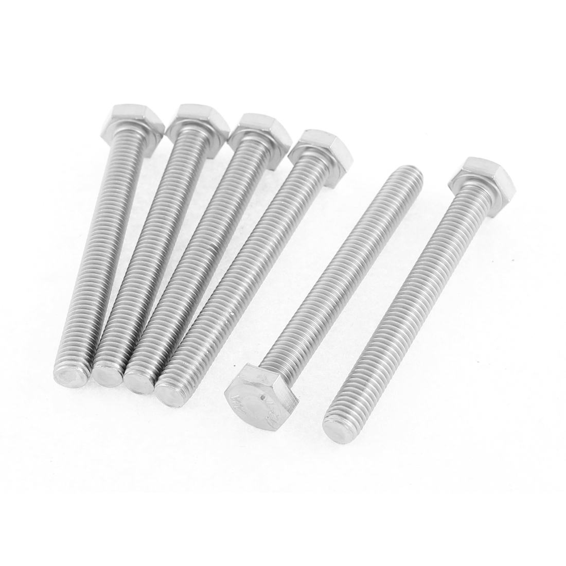 Uxcell M8 x 70mm Metric 304 Stainless Steel Fully Threaded Hex Head Screw Bolt (6-pack)