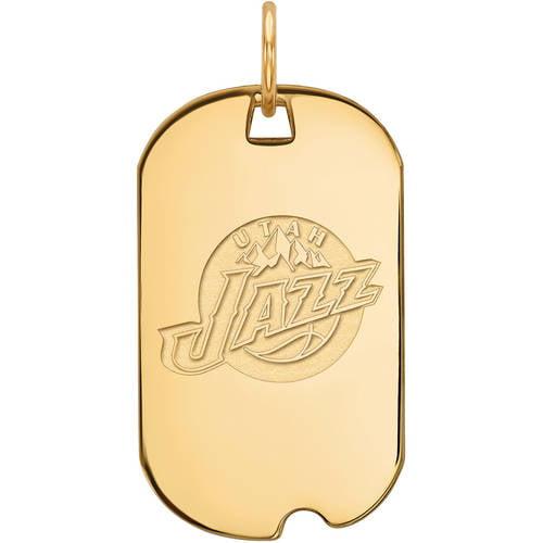 NBA Utah Jazz 14kt Yellow Gold Small Dog Tag