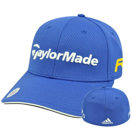 Adidas Ashworth Golf Hat Cap Penta Taylor Made R11 Blue Stretch Flex Fit - Adidas Stretch Cap